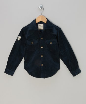 Blue St. Exupery Corduroy Button-Up - Infant, Toddler & Boys