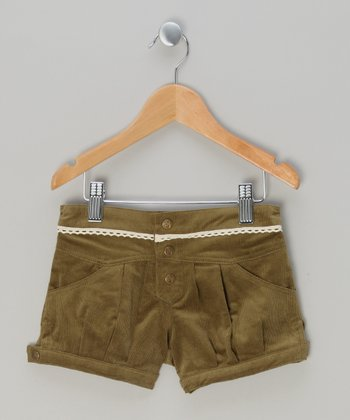 Olive Corduroy Shorts - Infant, Toddler & Girls