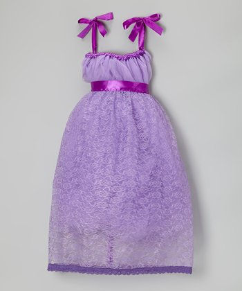 Lilac & Purple Lace Flower Dress - Infant, Toddler & Girls