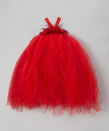 Red Flower Tutu Dress - Infant, Toddler & Girls