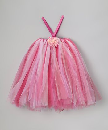 Pink Tutu Dress & Flower Clip - Infant, Toddler & Girls