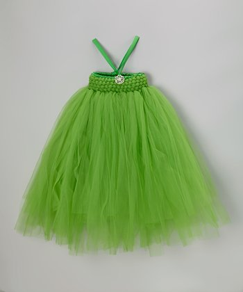 Green Stretch Bling Tutu Dress - Infant, Toddler & Girls