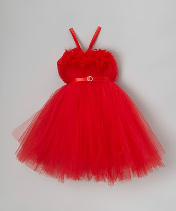 Red Feather Bling Tutu Dress - Infant, Toddler & Girls
