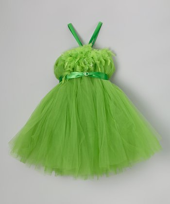 Green Feather Bling Tutu Dress - Infant, Toddler & Girls