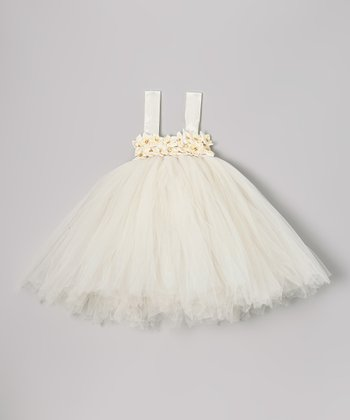 Cream Star Flower Tutu Dress - Infant, Toddler & Girls