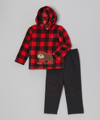 Red Bear Fleece Hoodie & Pants - Infant & Toddler
