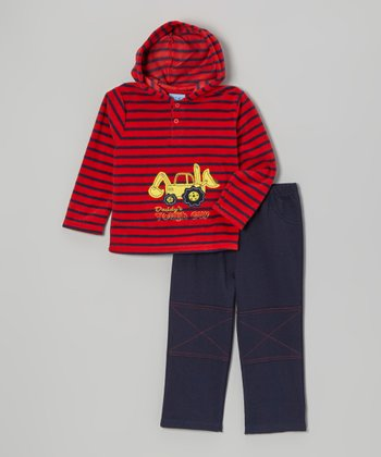 Red Truck Fleece Hoodie & Pants - Infant