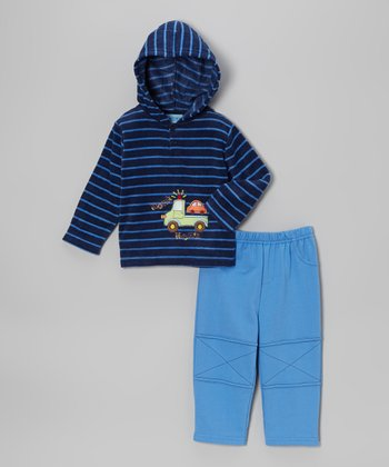 Blue Truck Fleece Hoodie & Pants - Infant