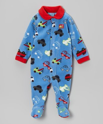 Blue Trucks Polar Fleece Footie - Infant