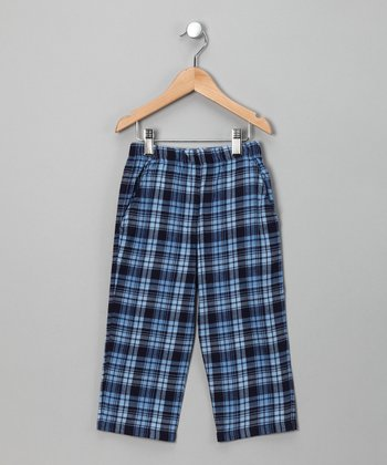 Navy & Blue Plaid Pants - Infant & Boys
