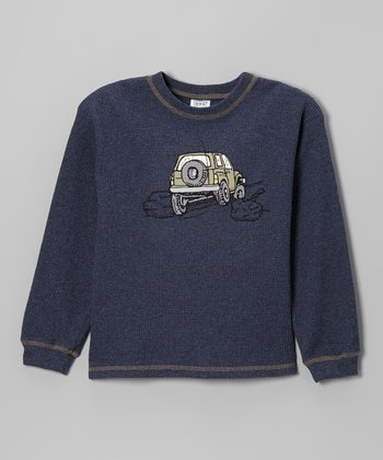 Denim Blue Big Jeep Thermal Tee - Boys