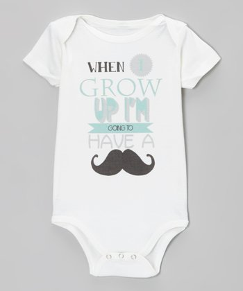 White 'When I Grow Up' Organic Bodysuit - Infant