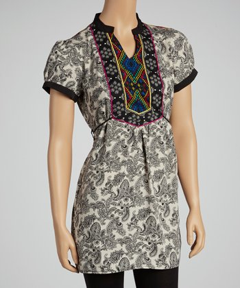 Multi Short Sleeve Collar Tunic
