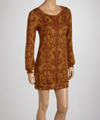 Mustard Long Sleeve Dress