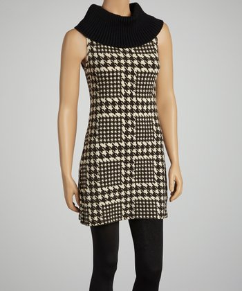 Black & White Houndstooth Tunic