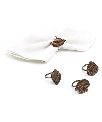 Seashell Napkin Ring - Set of Four