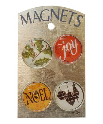 'Joy' & 'Noel' Magnet Set