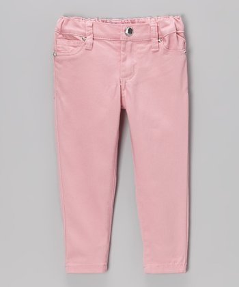 Blush Denim Five-Pocket Skinny Jeans - Toddler