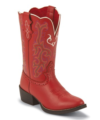 Justin Boots Red Deercow Boot - Kids