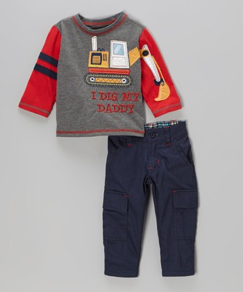Medium Gray 'I Dig' Tee & Cargo Pants - Infant