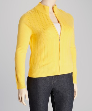 Mango Zip-Up Jacket - Plus