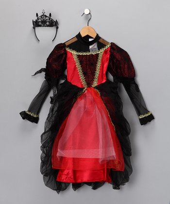 Red & Black Twinkle Gothic Witch Costume - Toddler