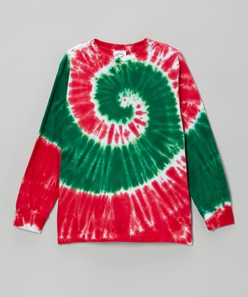 Red & Green Holiday Swirl Tee - Toddler & Kids
