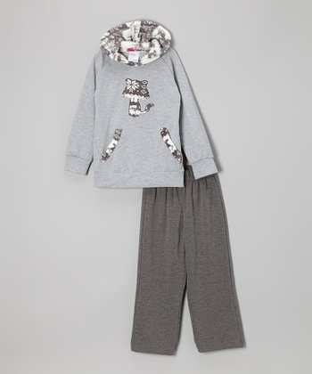 Gray Fox Hoodie & Pants - Toddler & Girls