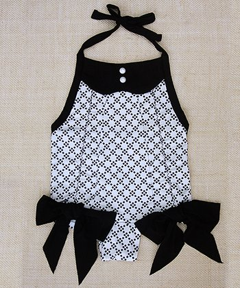 Black & White Polka Dot Adele One-Piece - Toddler & Girls