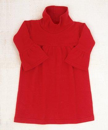 Red Cala Cowl Neck Dress - Infant, Toddler & Girls
