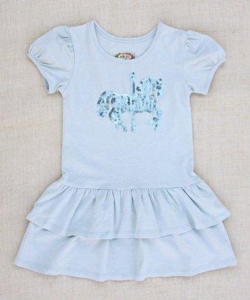 Pale Seaglass Blue Carousel Dress - Infant, Toddler & Girls