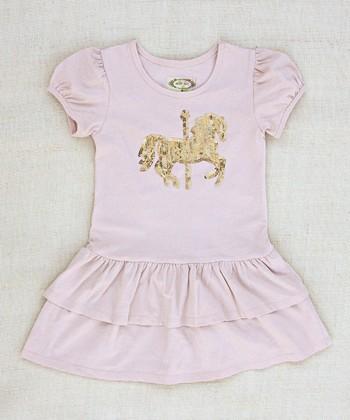 Vintage Pink Carousel Dress - Infant, Toddler & Girls