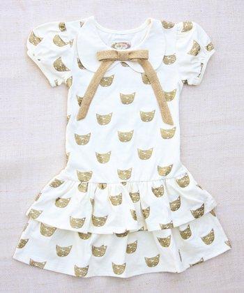 Cream Cat's Meow Peter Pan Dress - Infant & Toddler