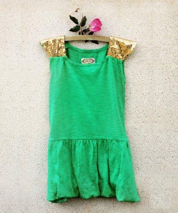Emerald Sequin Sabine Bubble Dress - Infant & Toddler