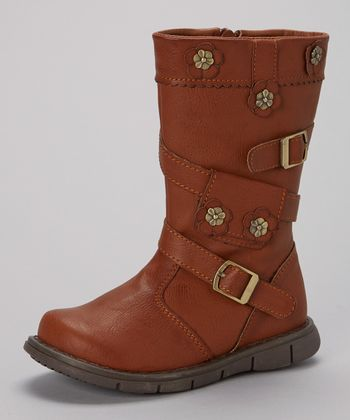 Tan Double-Buckle Boot