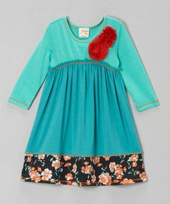 Jade & Aqua Babydoll Dress - Girls
