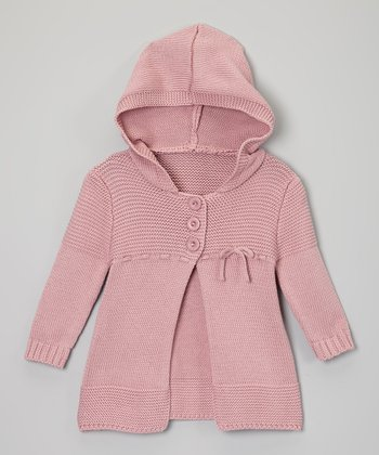 Pink Knit Hooded Duster - Infant, Toddler & Girls