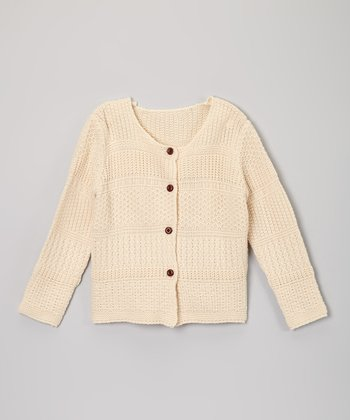 Ivory Stripe Cardigan - Toddler & Girls