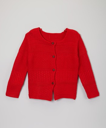 Red Stripe Cardigan - Toddler & Girls