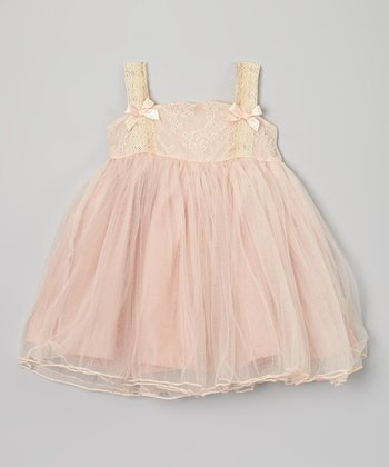 Light Pink Lace Chiffon Dress - Infant, Toddler & Girls