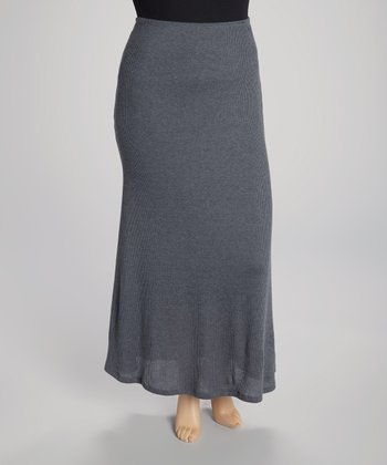 Heather Gray Maxi Skirt - Plus
