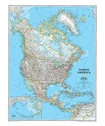 North America Classic Laminated Map