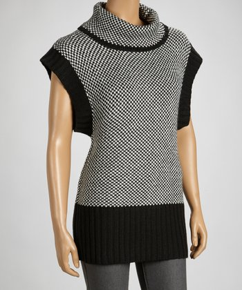 Black & Gray Turtleneck Sweater