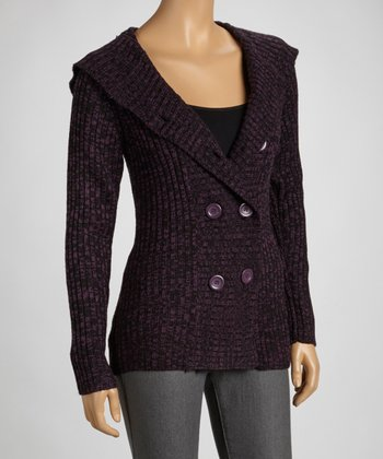 Purple & Black Cardigan