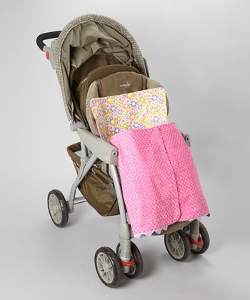 Pink Happy Flower Stroller Blanket