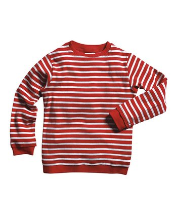 Red & Soft Gray Stripe Tee - Infant & Boys