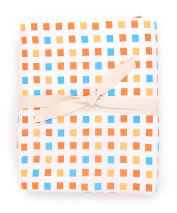 Orange Mosaic Crib Sheet