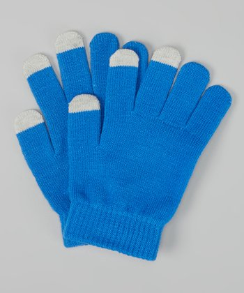 Royal Blue Texting Gloves