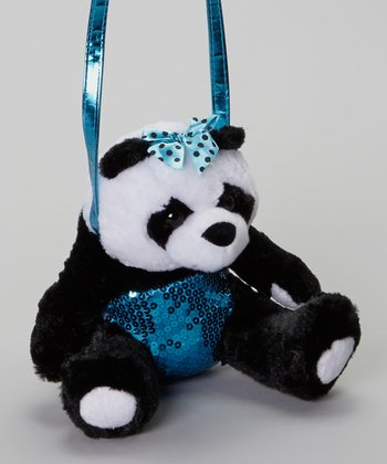 Black & Blue Panda Crossbody Bag