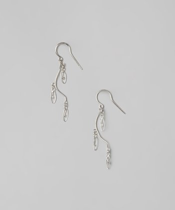 Sterling Silver Vine Drop Earrings